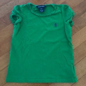 Ralph Lauren green t-shirt. Kid size 4/4T